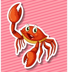 Happy crab vector