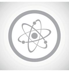 Grey atom sign icon vector