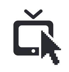 Web tv icon vector