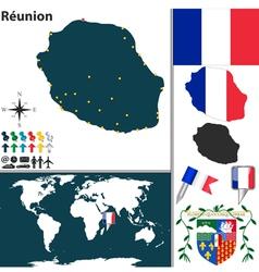 Reunion map world vector