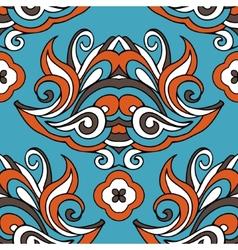 Damask floral vintage seamless design vector