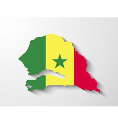 Senegal map with shadow effect presentation vector