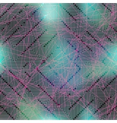 Computer grid matrix pattern on blurred background vector