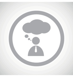 Grey thinking person sign icon vector