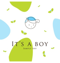 Baby boy arrival card vector