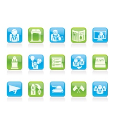 Politics and political party icons vector