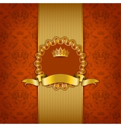 Luxury background with ornament frame vector