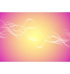 Blurred bright waves vector