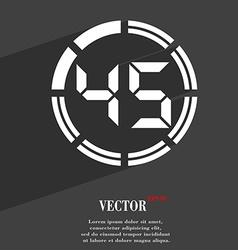 45 second stopwatch icon symbol flat modern web vector