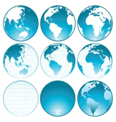 Globes collection vector