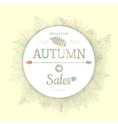 Autumnal fallen leafs eps 10 vector