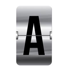 Alphabet silver flipboard letters a vector