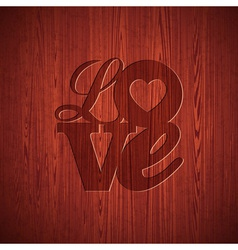 Valentines day with engraved love vector