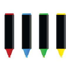 Highlighters in four color vector