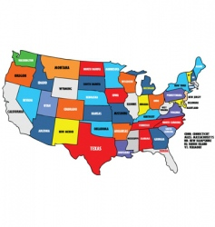 Map of states of america vector