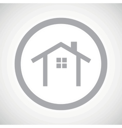 Grey cottage sign icon vector