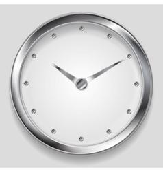 Abstract metallic clock design vector