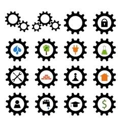 Set of gear wheel logos vector