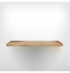 Isolated empty shelf for exhibit  eps10 vector