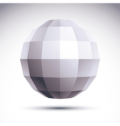 Abstract geometric 3d object modern digital vector