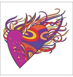 Flaming heart vector