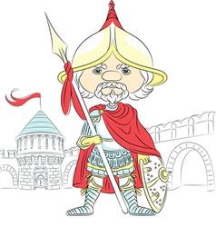 Fairytale cartoon knight in armor vector