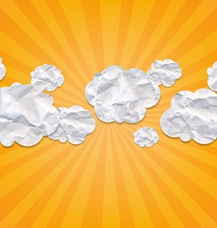 Sunburst backgrounds with clouds vector