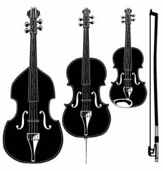 Stringed instruments vector