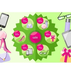 Fashion purchases sale discount vector