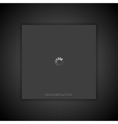 Dark abstract loading progress background vector
