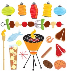 Retro barbeque party vector
