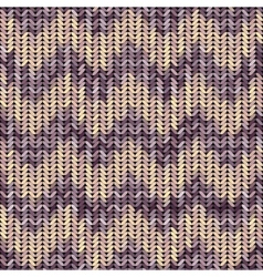 Knitted texture patterned chevron vector