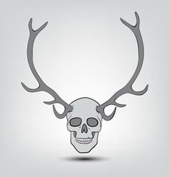 Horned human skulls vector