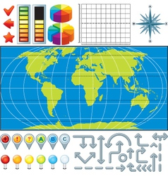 Infographics global business finance vector