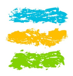 Collection of paint splash vector