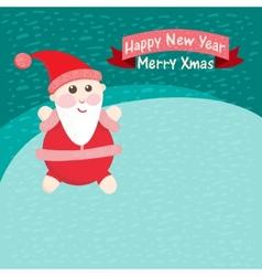 Santa claus in the snow vector