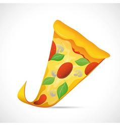 Pizza slice cartoon vector