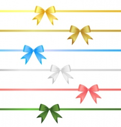 Ribbon bow set vector