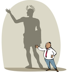Businessman and his shadow vector