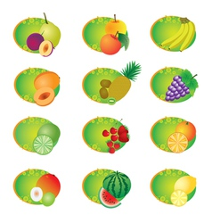 Icons with fruits vector