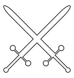Crossed swords icon vector