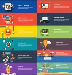 Management digital marketing srartup planning seo vector