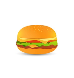 Tasty hamburger vector