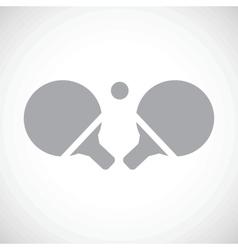 Table tennis black icon vector