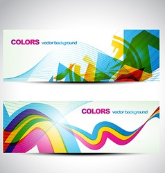 Colorful banner set vector