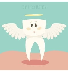Tooth extraction healthy white teeth vector