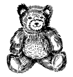 Sitting bear vector