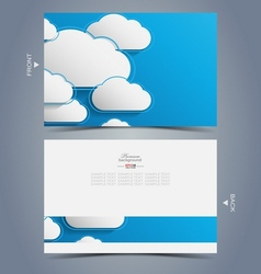 Elegant business card design template vector