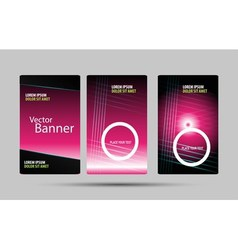 Abstract trendy banner vertical set eps vector