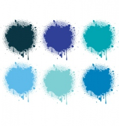 Splash blue collection vector